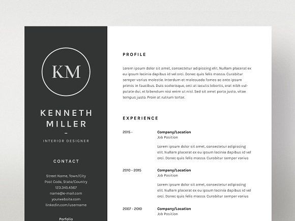Kenneth Miller  ResumeCv Template By MatsPeter Forss On