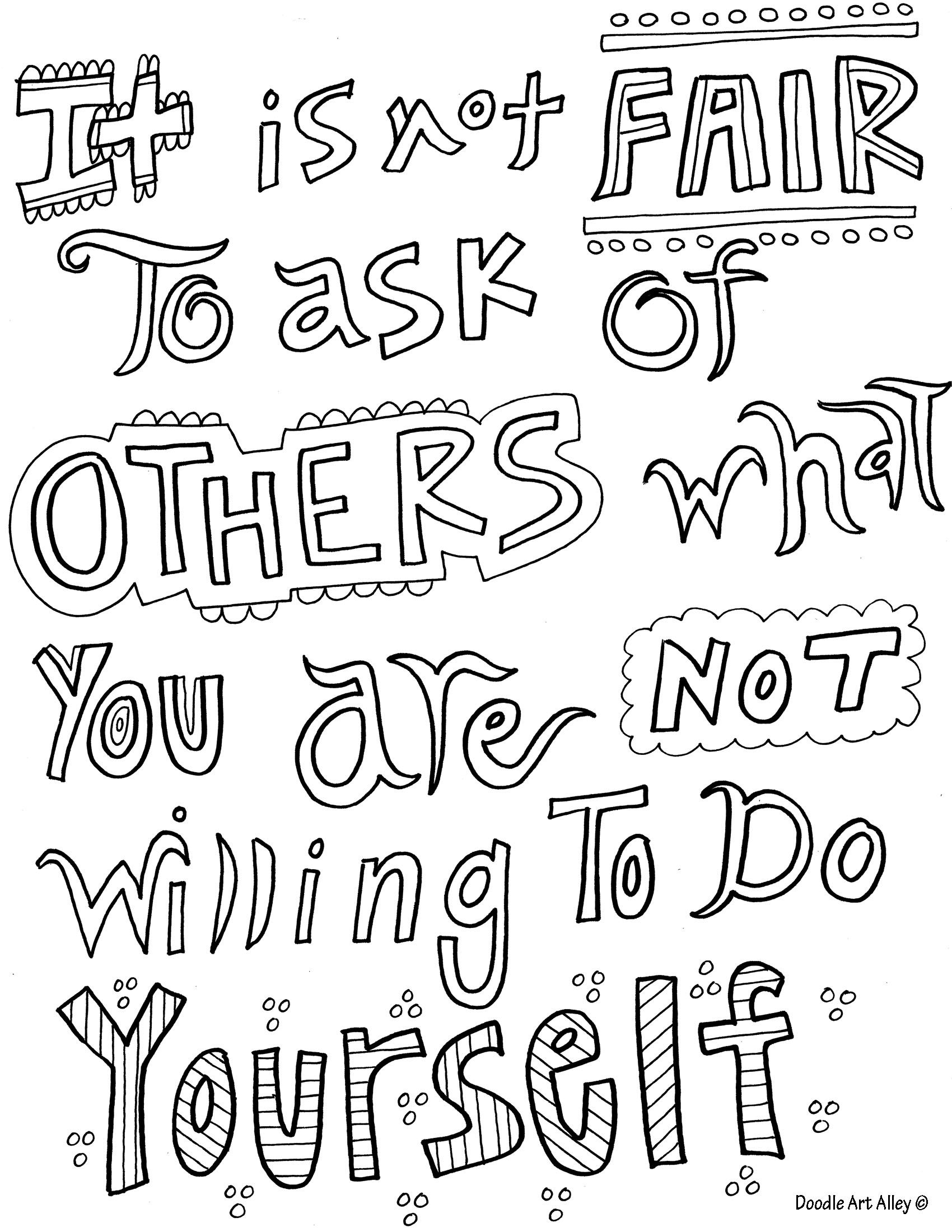 Inspirational Quotes Coloring Pages. QuotesGram | COLORING PAGES ...