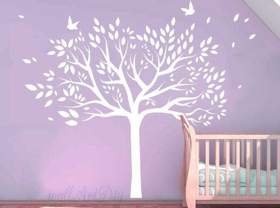 White Tree Wall Decals Giant Murals Vinyl