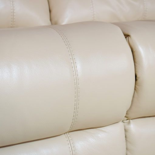 Moreno Cream leather 3 Seater + 2 Seater sofa (18b) | Sofas ...