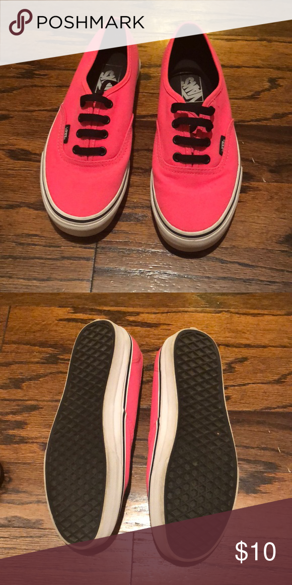 d515937d75c Hot pink Vans In excellent condition Wore 3 or 4 times Smoke free home Vans  Shoes Sneakers