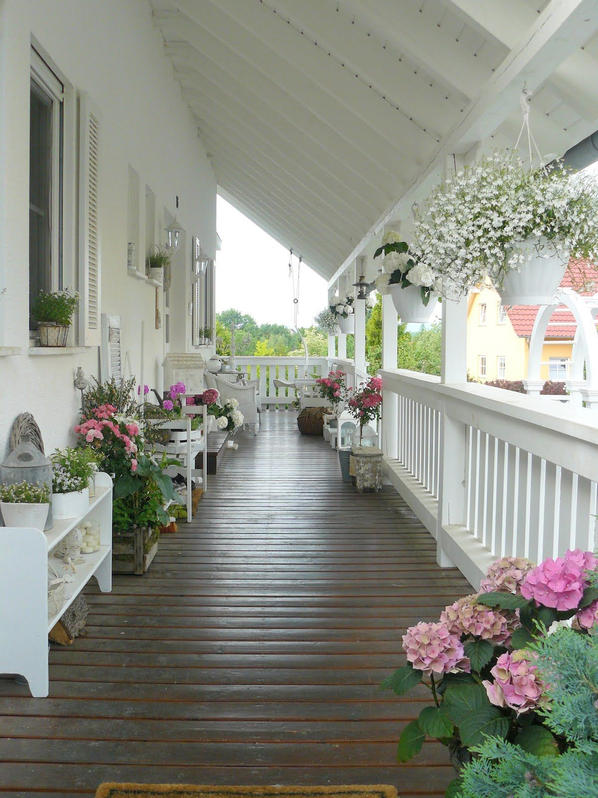 Farmhouse Front Porch Swing Shabby Chic Front Porch Porches And Such In 2019