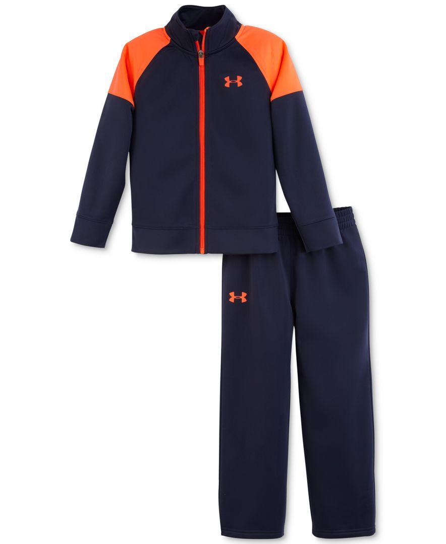 ed78d12c44 Under Armour Little Boys' 2-Piece Element Warm-Up Jacket & Pants Set ...