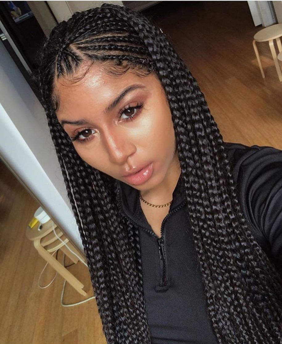 Box Braids Hairstyles For Black Women Ideas In 2020 Braided Hairstyles Hair Styles Natural Hair Styles