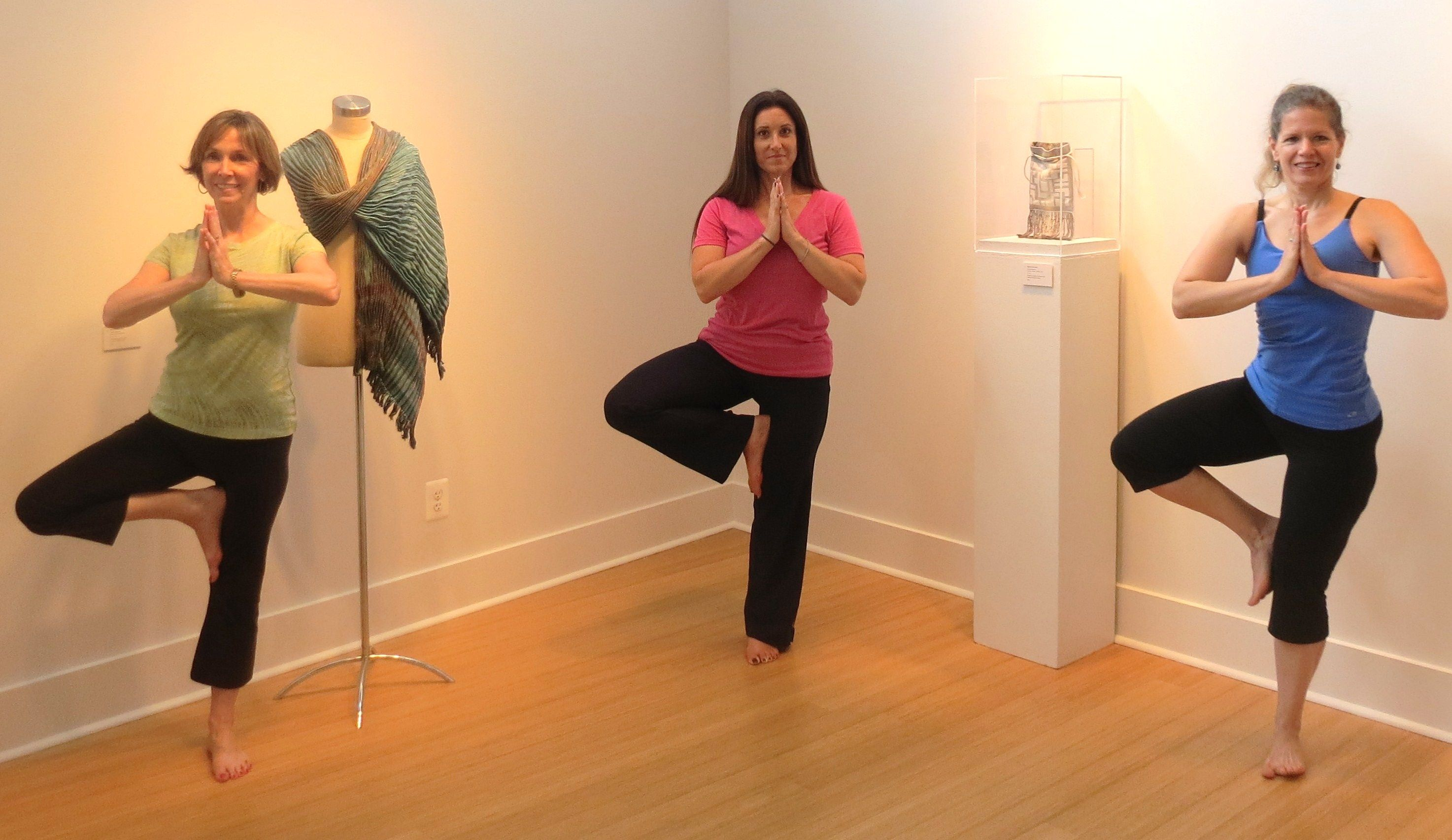 My specialty, yoga in art galleries, especially Capitol Art Network.