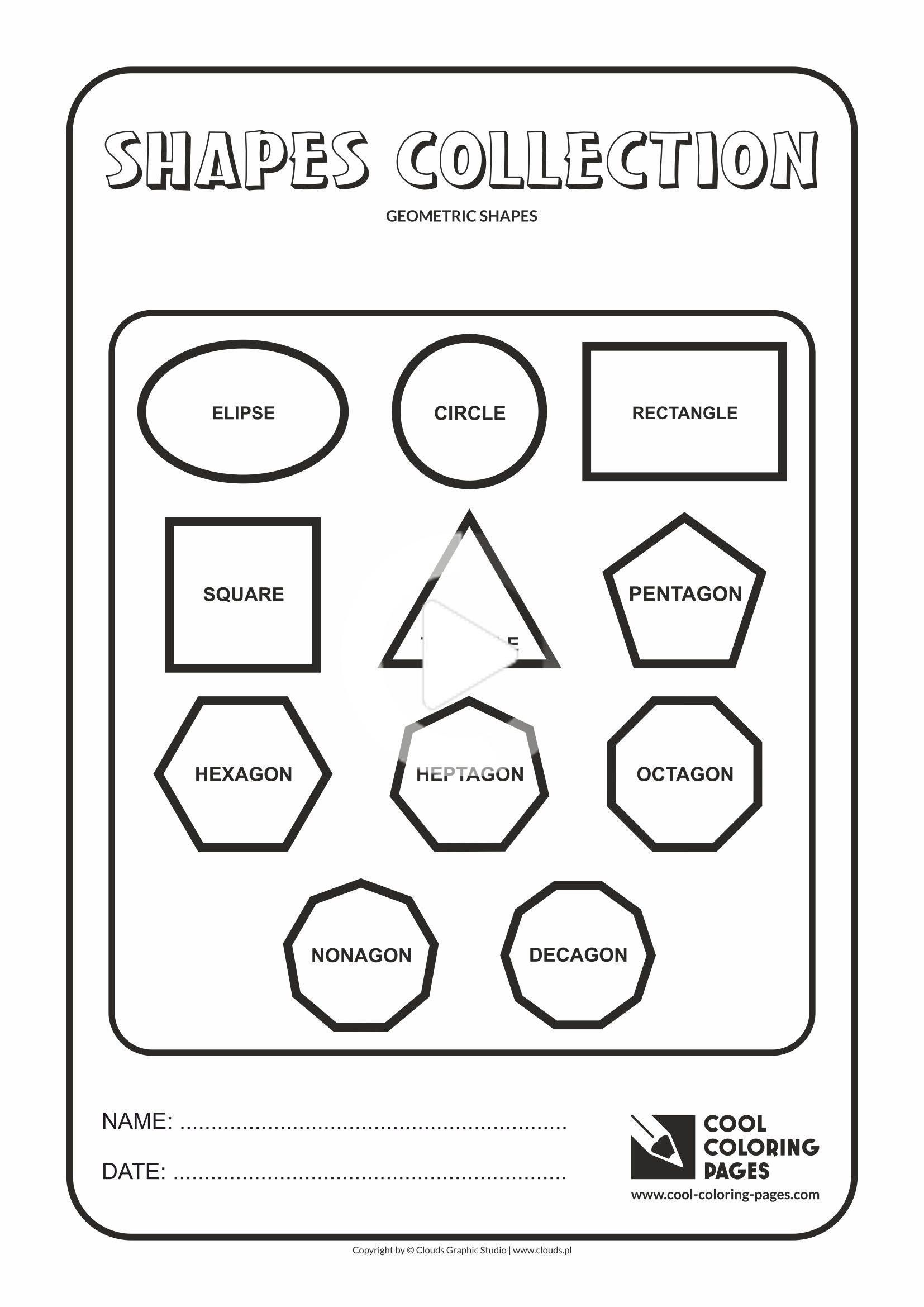 Cool Coloring Pages Geometric Shapes Cool Coloring Pages Free Educational Coloring Pages And Shape Coloring Pages Color Activities Geometric Shapes Names [ 2339 x 1654 Pixel ]