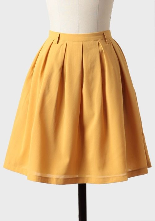 8c1e2ff379ef Dress like Quinn Fabray: golden afternoon pleated skirt $42.99 from Ruche
