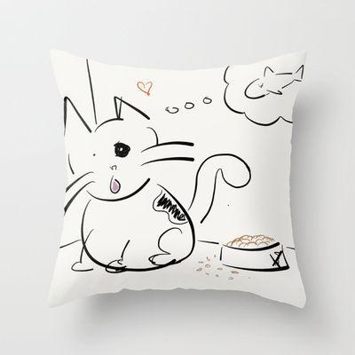 Cat food? Throw Pillow