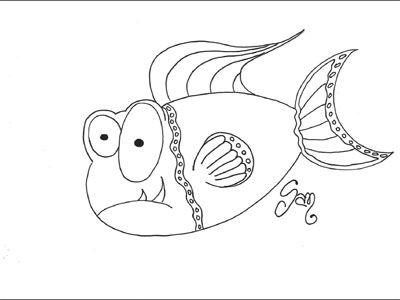 Impara A Colorare Pesce Daprile Disegni Da Colorare Disegni Da