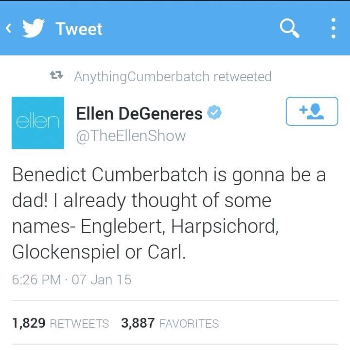 Ellen Degeneres On Posdible Babybatch Names Funny Dating Quotes Funny Tweets Funny Mom Quotes