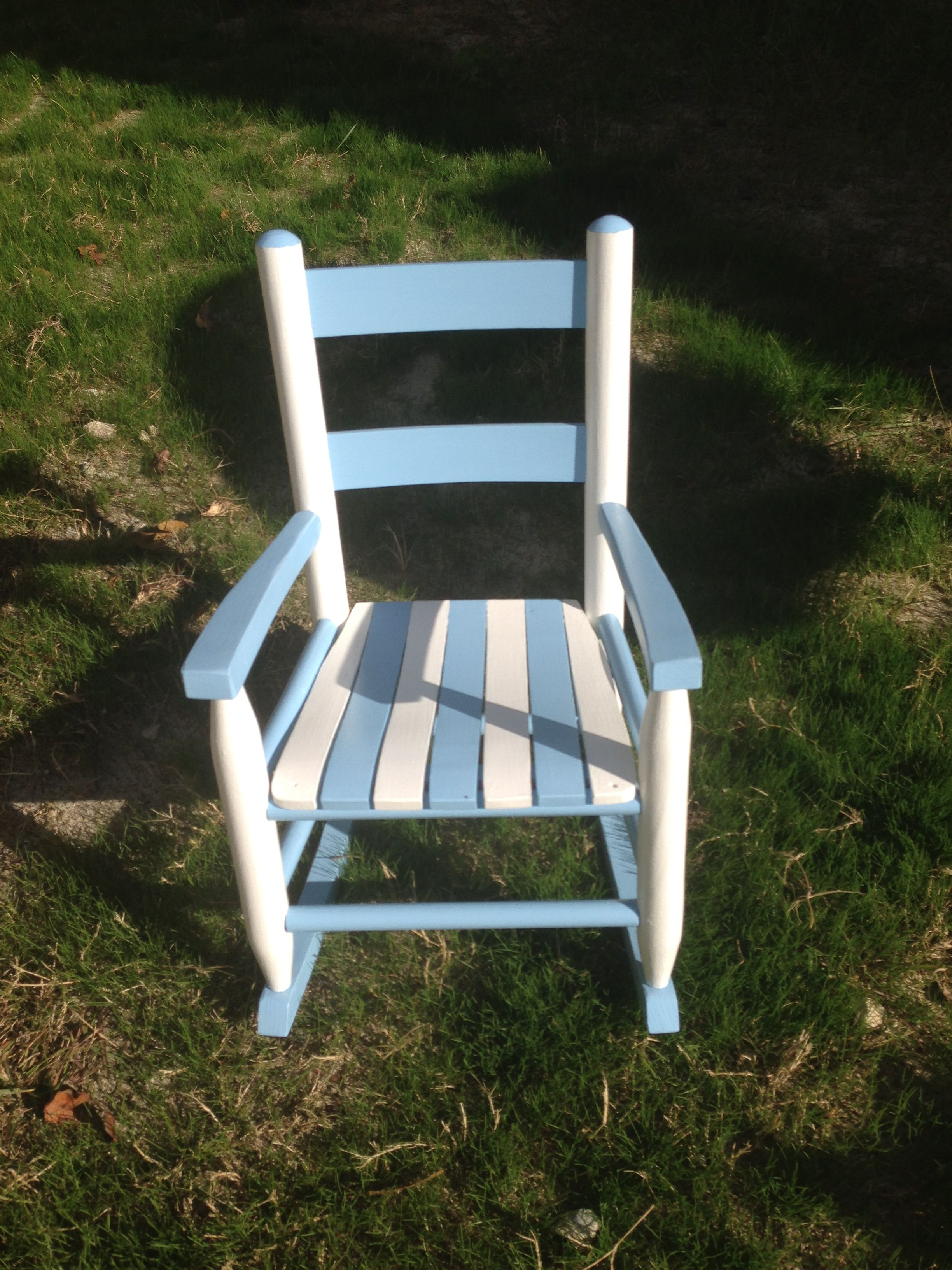 UNC wooden rocking chair