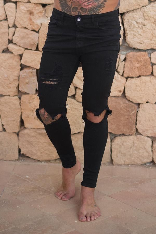 66ca73cf Destroyed Jeans - Black in 2018 | Style | Pinterest | Destroyed ...