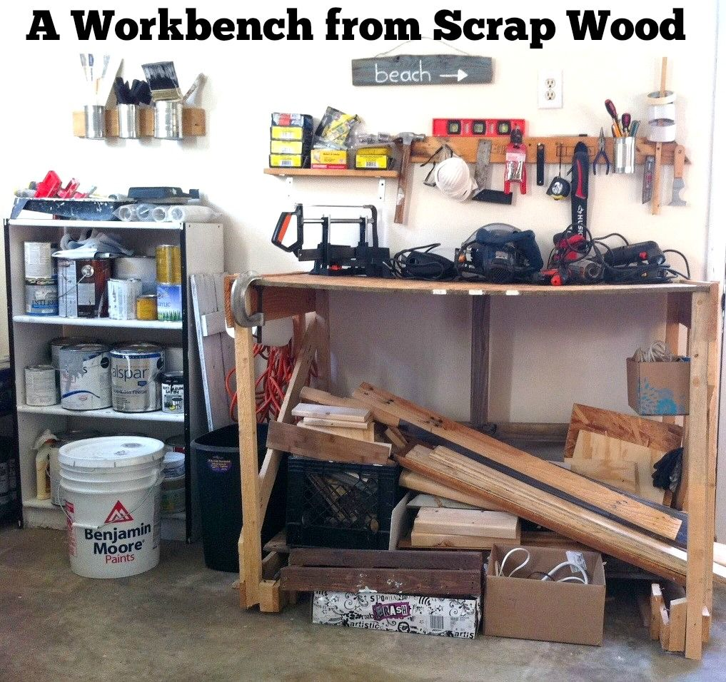 A Workbench From Scrap Wood | Mom in Music City