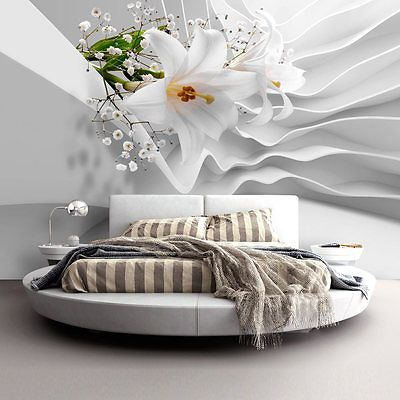 vlies fototapete tapeten xxl wandbilder blumen abstrakt 3d. Black Bedroom Furniture Sets. Home Design Ideas