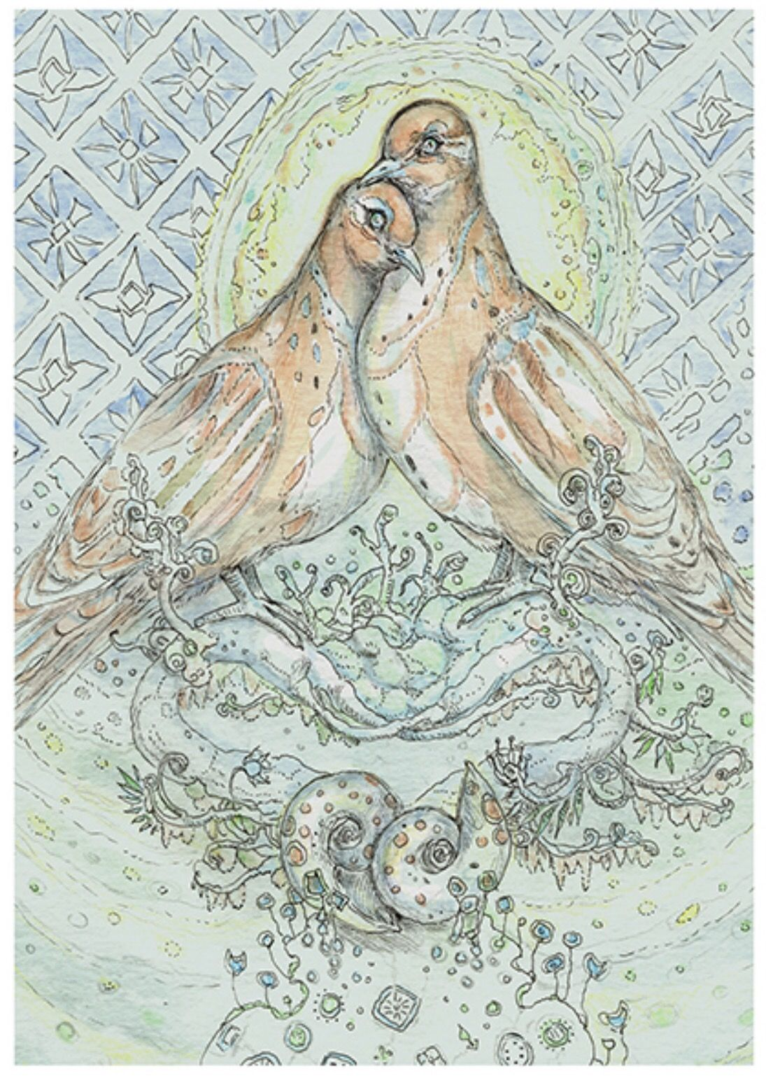 Featured Card Of The Day 2 Of Shells Dove Spiritsong Tarot