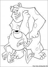 Monsters Inc Coloring Pages On Coloring Book Info Monster Coloring Pages Coloring Pictures Disney Princess Coloring Pages
