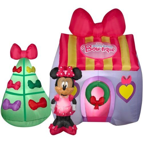 Disney Minnie Mouse Bow-tique Inflatable 7\u0027 Tall Airblown Holiday - disney christmas yard decorations