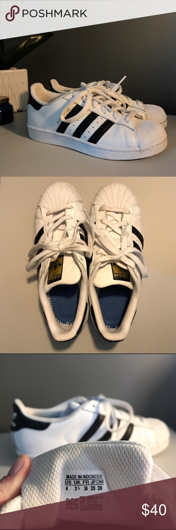 adidas superstars junior size 4 63537674a