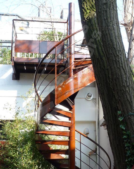 Photo DH65 - SPIRu0027DÉCO® Standing Escalier hélicoïdal extérieur en - fabriquer escalier exterieur bois
