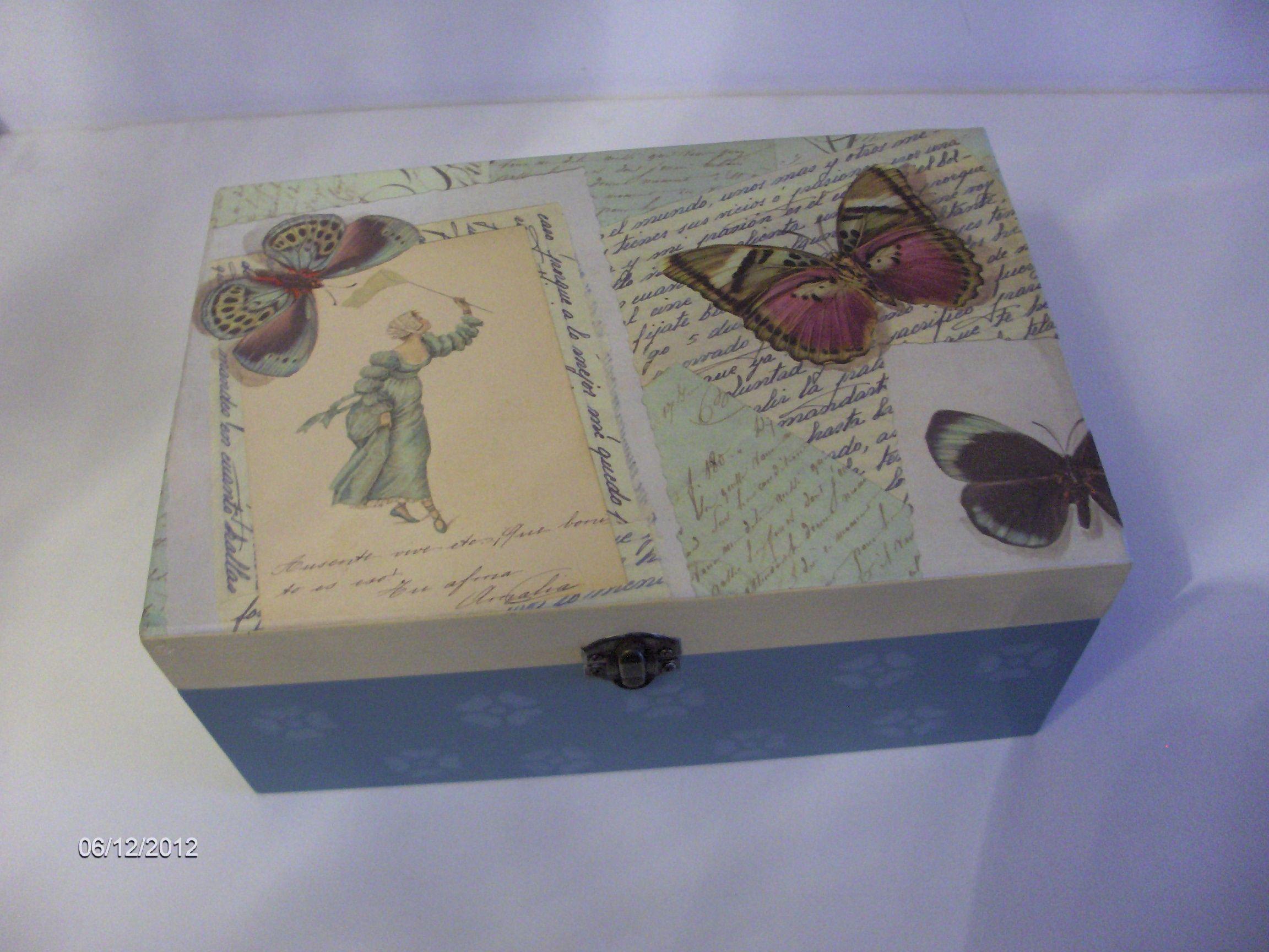 Cajas on pinterest manualidades picasa and hello kitty - Cajas de madera decoradas ...