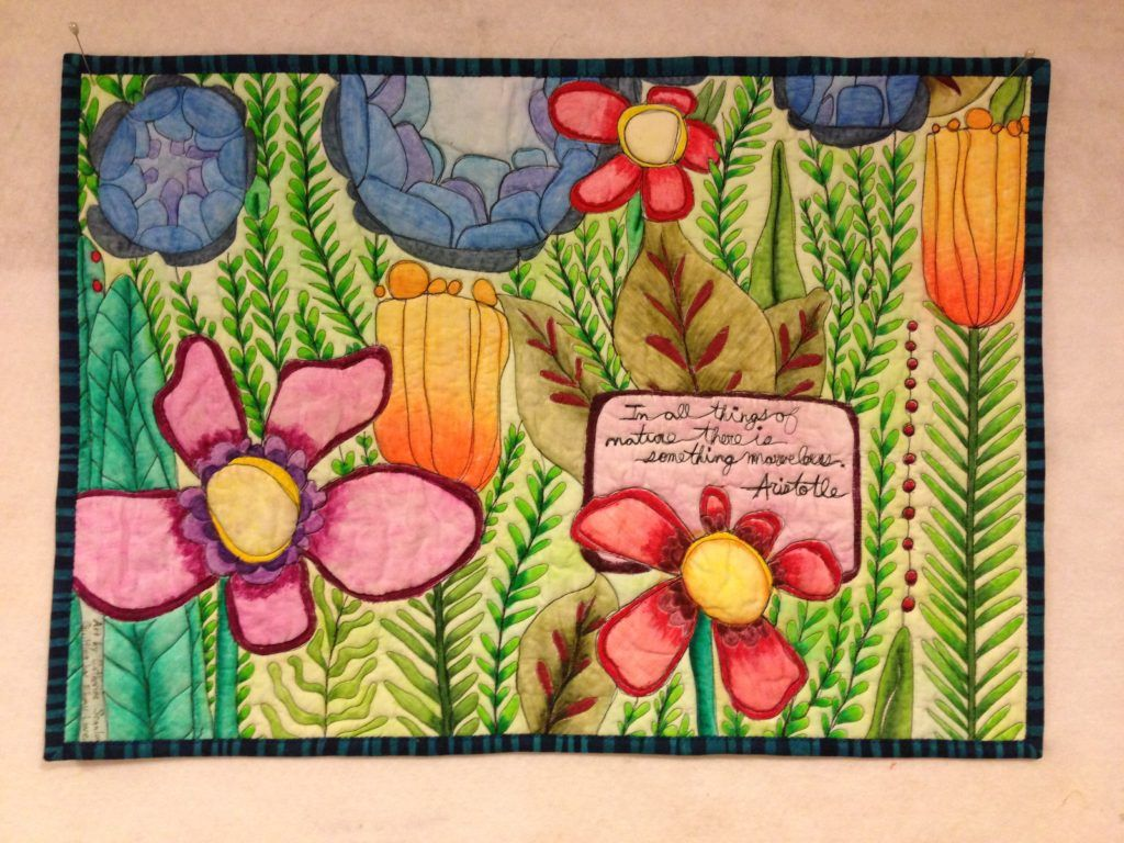 How To Paint Fabric Using Inktense Pencils Lovebug Studios Fabric Painting Fabric Painting Techniques Watercolor Quilt