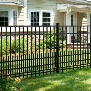 Mainstreet Aluminum Fence 3 4 In X 2 Ft X 6 Ft Black Aluminum