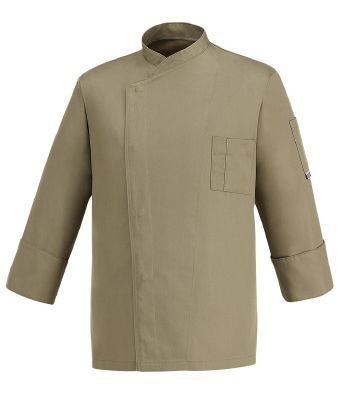 CHAQUETA COCINERO KAKI CHEAP EGOCHEF  Mod. 104050 65% Polyester - 35% Cotton