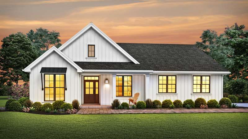 All The Farmhouse Features A Growing Family Needs House Plan 1146k The Elm Tree Farm Is A 170 In 2020 Modern Farmhouse Plans Farmhouse Plans Contemporary House Plans