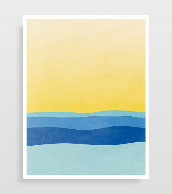 Colorful Wall Art Set of 3 Prints Abstract Art Prints Living | art ...