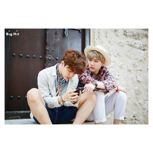 Jimin and Suga #BTS #방탄소년단 Summer Package in Dubai. ❤ liked on Polyvore featuring bts