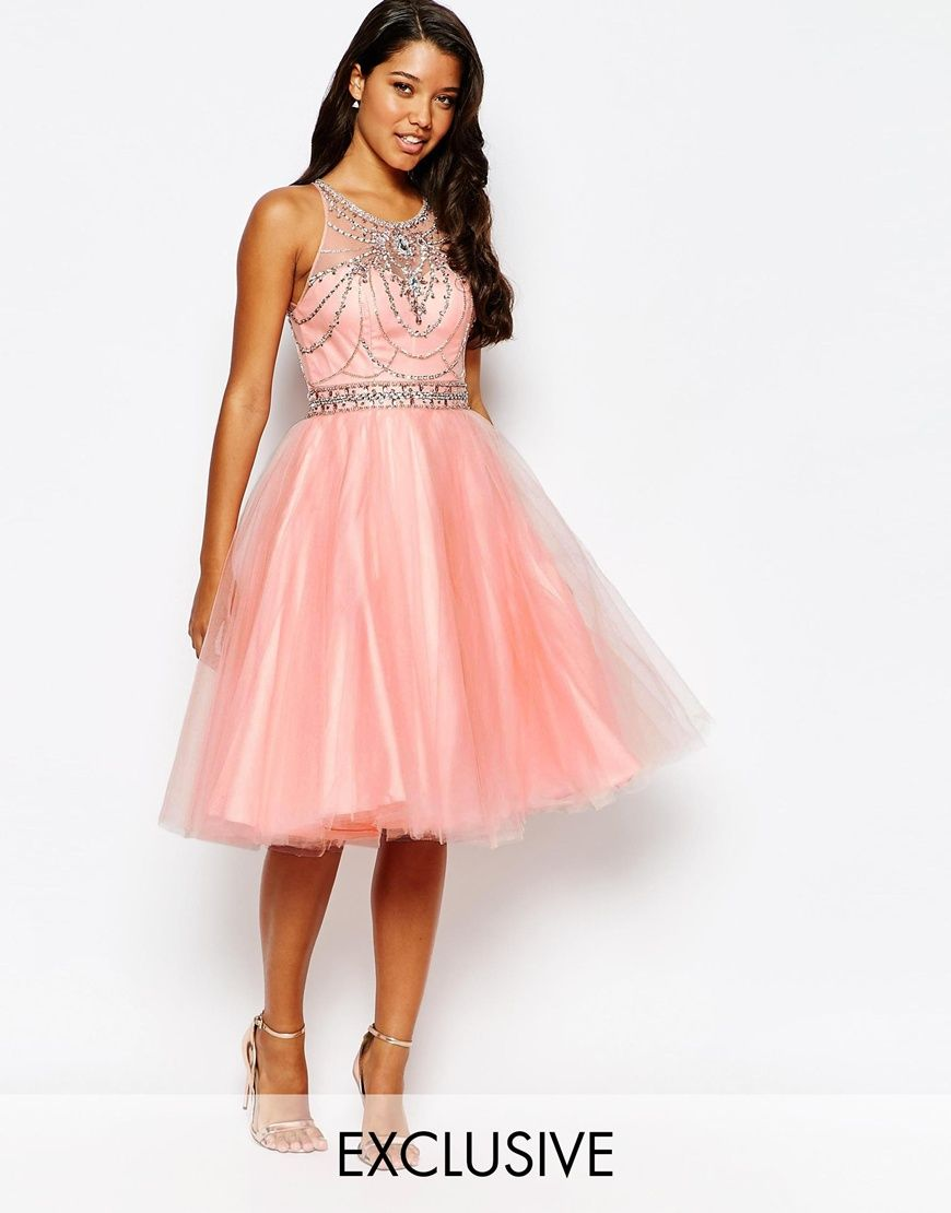Forever Unique Embellished Prom Dress with Tulle Skirt | Bridesmaid ...
