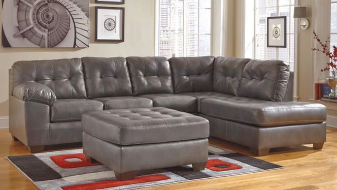 Brand New Raf Durablend Sectional Ashley Furniture Sectional Living Room Leather Grey Sofa