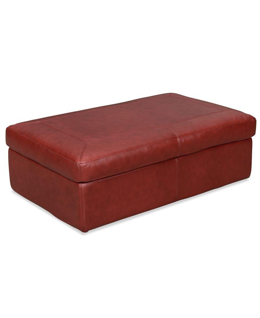 Marchella Leather Storage Ottoman Leather Storage Ottoman