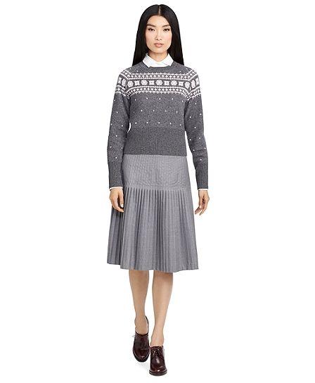 Stitch Pleat SkirtLight Grey