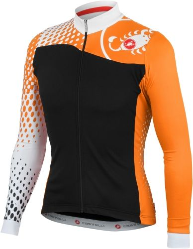 Castelli Women s Sfida FZ Cycling Jersey - Black White Orange Save with  Free SHIPPING from CycleGarb.com 711a19103
