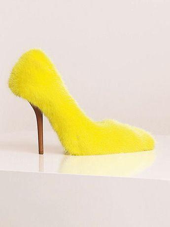 Fashion shoes, Fur heels, Pumps