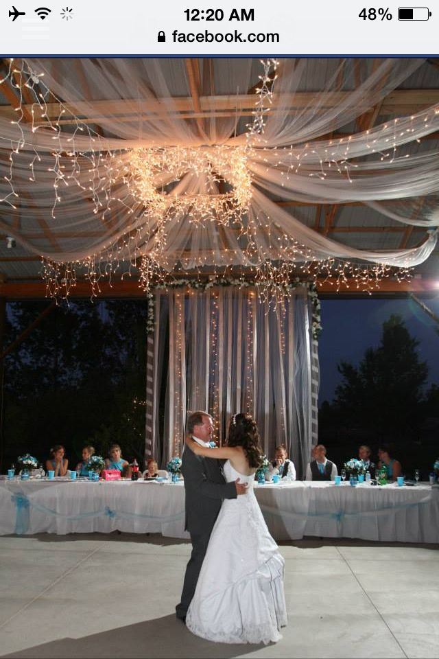 Wedding Decor For A Shelter House Faux Chandelier Made With