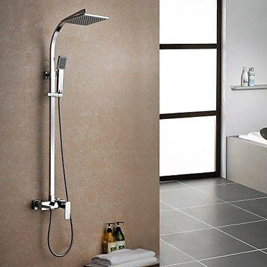Duscharmatur Eingestellt Zeitgenssischen Regen Dusche Verchromt