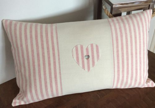 Susie-Watson-Rose-Ivory-Stripe-Appliqued-fabric-cushion-cover