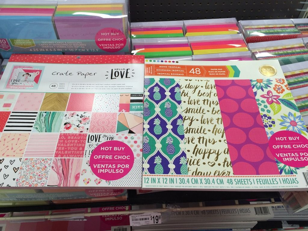 Scrapbook Shopping: New Hot Buy Paper Pads at Michaels