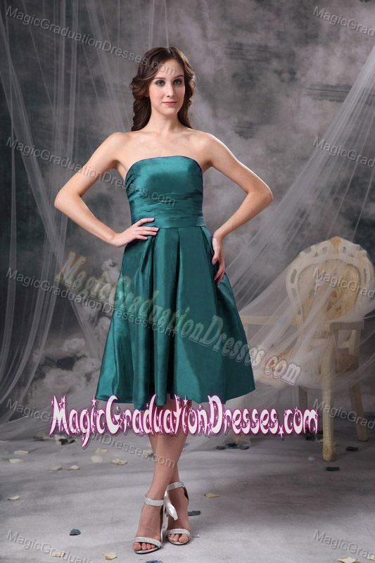 25d51e9c4409 Low Price Strapless Turquoise Knee-length University Grad Dress in Plano