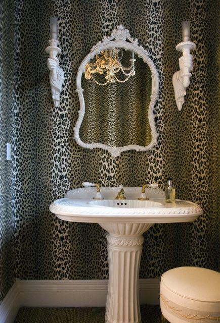 leopardo adorável e branco