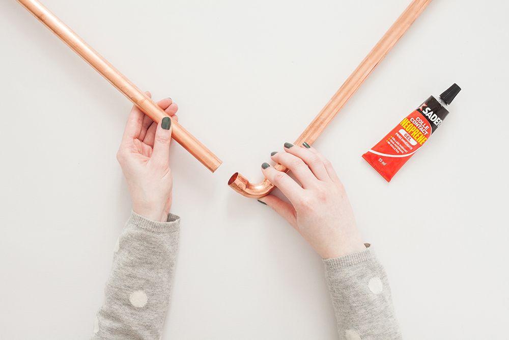 Diy Copper And Concrete Coat Rack Heju Diy Cuivre Et