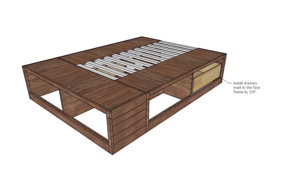 Ana White | Build a Brandy Scrap Wood Storage Bed with Drawers ...