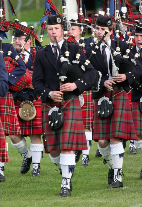 Bagpipers at Crieff Highland Gathering,Scotland