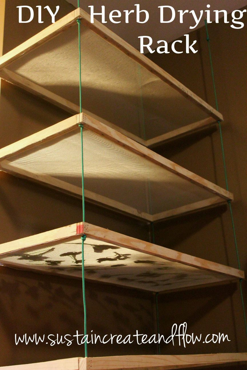 Diy herb drying rack using common household materials