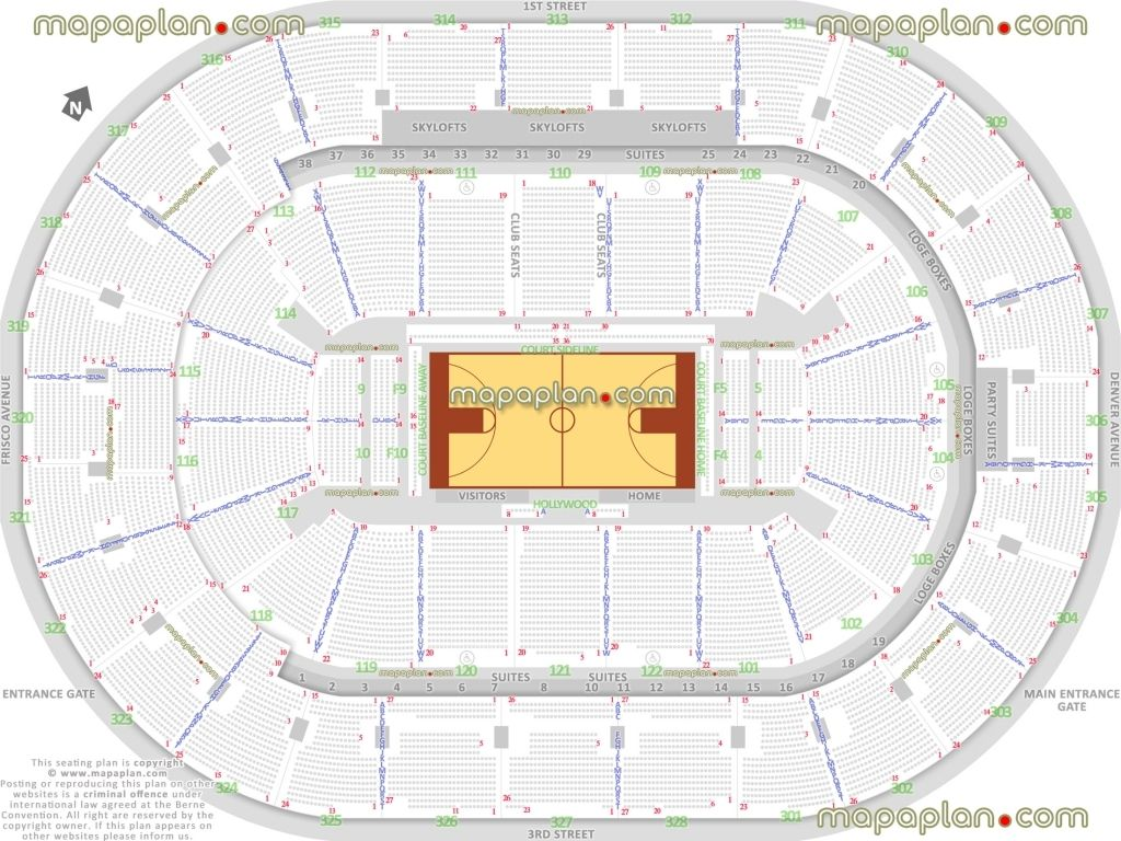 Staples Center Concert Seating Chart With Seat Numbers And Rows Di 2020