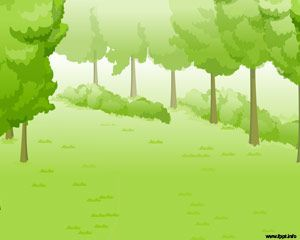 Green Forest Powerpoint Pohon Gambar Alam