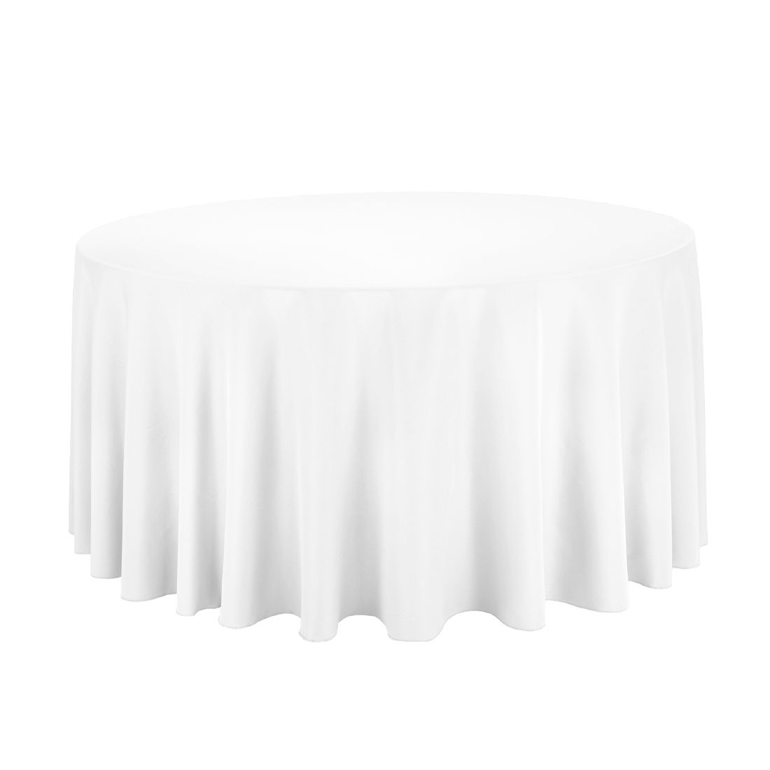 120 In Round Economy Polyester Tablecloth White White Table Cloth White Round Tablecloths 120 Round Tablecloth