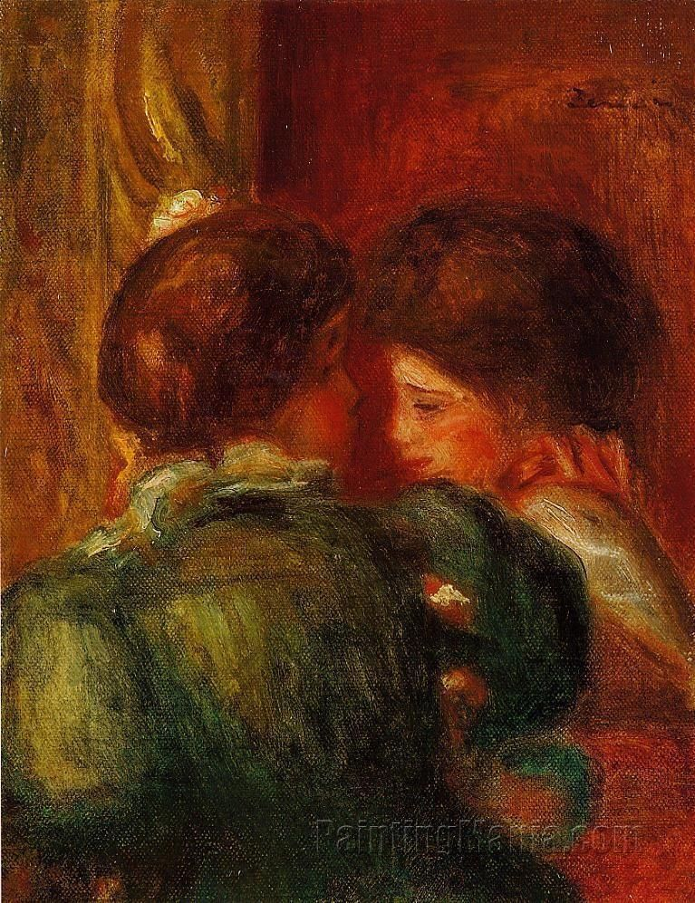 Two Women's Heads (The Loge), 1903, by Pierre-Auguste Renoir (French, 1841–1919)